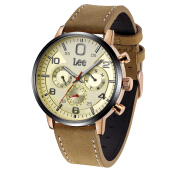 Lee Watch LEF-M126ABL5-9B Jam pria bahan kulit Brown