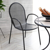 THE OLIVE HOUSE - Steel/Space Chair C098 Black (Free Ongkir Jawa & Bali)