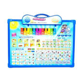 Kaptenstore Playpad Anak Muslim 3 Bahasa iPad Arab dengan Layar Papan Tulis dan Piano Light Green