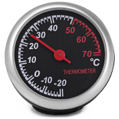 Mechanics Car Thermometer Digital for 12V Auto Time Black