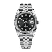 ROLEX Gents DateJust 36mm 116234 - Black Jubilee Diamonds