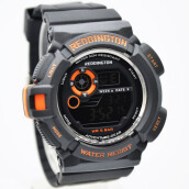 Reddington Rubber Strap Mens R6043M-110D49HTOR Digital Hitam Orange