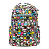 Jujube Be Right Back Hello Friends Diaper Backpack Gray