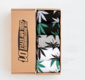Cool My style CS-6 California skate city Maple leaf socks(about 19cm) five pairs in one set-five colors