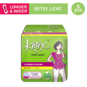 KOTEX Fresh Liner Longer & Wider Betel Leaf - 8 S