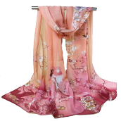 Fashionmall Ethnic Peacock Gilding Covered Edge Soft Scarf
