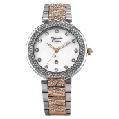 Alexandre Christie AC 2656 LD BTRMS Ladies White Dial Dual-tone Stainless Steel [ACF-2656-LDBTRMS] Multicolor