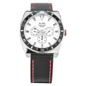 Alba Man White Dial Stainless Steel Case Leather Strap [AP6527X1]