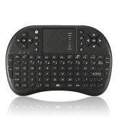 2.4G Mini Wireless Keyboard Mouse with Touchpad for PC Android TV HTPC Black