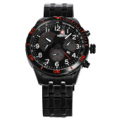 Expedition Man Chronograph Black Dial Black Stainless Steel [EXF-6720-MCBIPBARE]