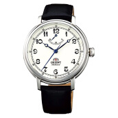 Orient Monarch Silver White Dial Black Leather Strap [FDD03003Y] Black