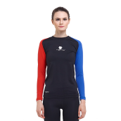 Tiento Baselayer Manset Rashguard Compression Tiento Long Sleeve Black Blue Red