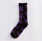 Cool My style CS-20 California skate city Maple leaf socks(about 19cm)-Black