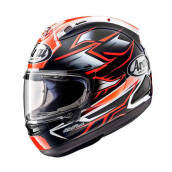 Arai RX7X Ghost Red Helm Full Face - Graphic Red