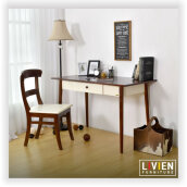 LIVIEN Furniture Meja Belajar - Meja Kerja - Mid Century Desk - Brown