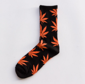 Cool My style CS-14 California skate city Maple leaf socks(about 19cm)-Black