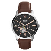 Fossil Townsman Automatic Brown Leather Strap [ME3061] Coklat