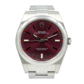 ROLEX Gents Oyster Perpetual 39mm 114300 Red Grape Sunburst Index