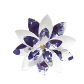 Object Deco Flower White Blue 38 cm