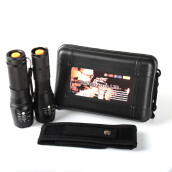 BESSKY 2pc X800 ShadowHawk Tactical Flashlight LED Military Grade G700 Torch Lamp_ Black