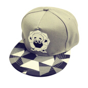 BAI B-340 Adjustable Baseball Cap MBL Hiphop cap with The Sheep design-Grey