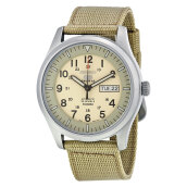 Seiko 5 Sports Automatic Beige Dial Stainless Steel Case Nylon Strap [SNZG07K1]