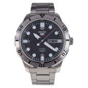 Seiko 5 Sports Automatic Black Dial Stainless Steel Bracelet [SRP671K1] Silver