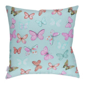 JOYLIVING Cushion Square Butterfly Pink 40 cm x 40 cm - Tosca