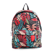 VOITTO Backpack 1716 Leaves Design - Black