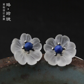 Luo Ling Long DIY Silver rain flower earrings
