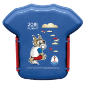 TECHNOPLAST FIFA Russia 2018 Lunch Box 800ml - Mascot [FG-SW830.FF18/48P]