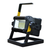 BESSKY 50W 36 LED Portable Rechargeable Flood Light Spot Work Camping Fishing Lamp_ Black
