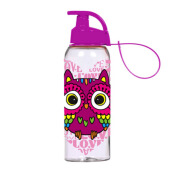 HEREVIN Sports Bottle with Hanger-Owl 0,5 Ltr