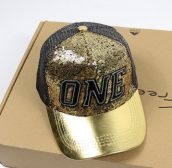 BAI B-334 Adjustable Baseball Cap MBL Hiphop cap with The ONE design-Golden