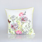 Vivere Cushion Cover Gardenia Flowers Pink