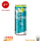 FAYROUZ Mix Vartiant Tin Bundle 330ml x 4pcs Free Toples