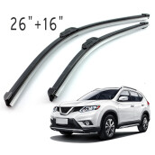 PAO MOTORING For All-Season Performance Front Pair 26 Inch + 16 Inch Wiper Blade J-Hook All Season OEM Car Window Windshield
