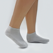 CARVIL Socks Bamboo Cotton - Light Grey [All Size]
