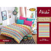 Selimut Akiko King Sutra Rotary Rainbow - Multicolor