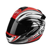 Ducati Stripes 12 Ece Helm Full Face - Red White Black XL