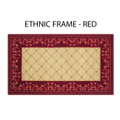 ARTSYs Keset Anti Slip Ethnic Frame 40x70 - Red