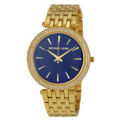 Michael Kors Darci Blue Dial Gold Stainless Steel Bracelet Watch [MK3406]