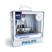PHILIPS WHITE VISION H11 (4100K) - LAMPU HALOGEN