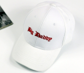 BAI B-329 Adjustable Baseball Cap MBL Hiphop cap with Big Daddy design-White