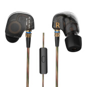 Knowledge Zenith KZ ATE Copper Driver In-Ear Sports Earphones With Mic - Black