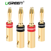 UGREEN HIFI Banana Plugs Corrosion Resistant 24K Gold Plated Connectors Golden