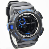 Reddington Rubber Strap Mens R6043M-110D49HTBR Digital Hitam Biru