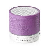 Vinmori Mini Wireless Portable Bluetooth Speaker With LED and Build-in Mic Support AUX TF for iPhone iPod and Android System Purple