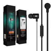 VIDVIE Earphone HS621 / Headset / Handsfree / Earbuds Grey
