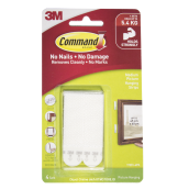 3M Command Hook Medium Picture Hanging Strips 5.4 KG 17201 White